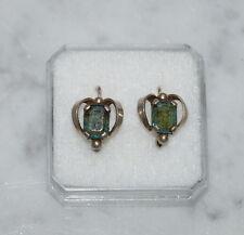 ❤❤❤  Antike Ohrringe aus Silber 800 mit Schmuckstein - art deco  ❤❤❤  (# 7026)