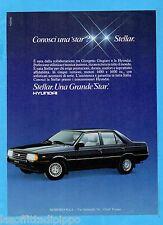 QUATTROR985-PUBBLICITA'/ADVERTISING-1985- HYUNDAI  STELLAR