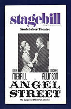 "Dina Merrill ""ANGEL STREET"" Michael Allinson 1975 Chicago Tryout Playbill"