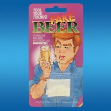 Fake Beer - Empty The Powder Into A Glass Filled With Water And Stir! Yuck!