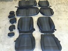 FACTORY OEM CLOTH SEAT COVER COVERS EBONY BLACK 2015 2016 FORD F150 SUPER CREW