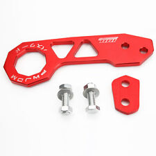 Aluminum Racing Rear Tow Towing Hook Kit Universal Red