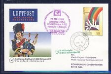 52381) LH FF Frankfurt - Edinburgh GB/UK 28.3.99, Karte ab Malta, CEPT