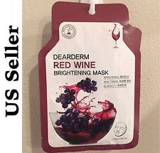 12 for $16 Red Wine Korean Dearderm Facial Mask Sheets (23g) US SELLER