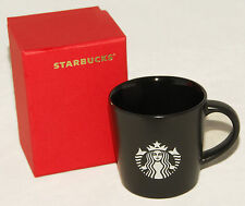 New! Black Starbucks Demi Mug 3 Fl Oz Coffee / Espresso with Box