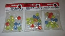 Three Bags Of Marbles Beautiful Classic Marble King Cat's Eye  Marbles