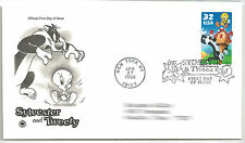 US First Day Cover Apr 27, 1998 Burbank, CA Looney Tunes Sylvester & Tweety 32¢