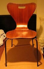 Brilliant Mid-Century Molded Plywood Teak Denmark Keeler Chair C. 1962 Jacobsen