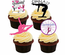 I Love Gymnastics Edible Cupcake Toppers, Stand-up Fairy Cake Decorations Girl