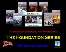 The FOUNDATION Series ~ By Isaac Asimov ~ UNABRIDGED ~ MP3 CD 7 Audiobook Set
