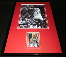Kevin Willis Signed Framed 11x17 DUNK Photo Display Atlanta Hawks
