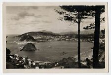 SAN SEBASTIAN Spain ESPANA RPPC Real Photo Postcard MONTE IGUELDO Spanish