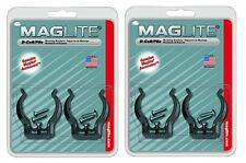 2 Pair 2 D Cell Mag Flashlight Clamps by Maglite ASXD026