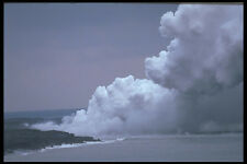 589009 Steam And Plume From Lava Tube Volcanoes National Park A4 Photo Print