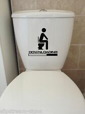 DOWNLOADING removable waterproof toilet lid wall stickers Decals Decoration art