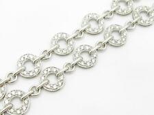 18k White Gold & Diamonds Double Row Halo Design 5.60 ct Tennis Bracelet Gift