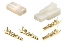 Battery Charger Connector Set (M & F) + Terminals (Accumate Compatible) NATURAL