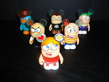 """DISNEY 3"""" VINYLMATION PHINEAS AND FERB COMPLETE SET OF 6 FIGURES"""