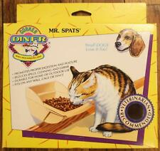 Mr. Spats' Corner Diner Wall Mounted Pet Dish for Cats and Small Dogs NEW