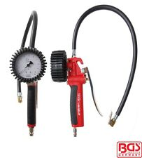 BGS Tools Pistol-Grip Air Tyre Inflator with Pressure Gauge Calibrated 55410