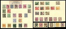 MALAYA STRAITS SETTLEMENTS...46 stamps on PAGES