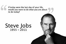 Steve Jobs Motivational Silk Fabric Canvas Art Poster 12x18 Inch Printing 53
