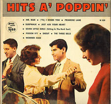 """DIVERS """"HITS A' POPPIN"""" ROCK N' ROLL DOO WOP 50'S LP PARADE N 109"""