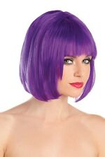 Women's Adult One Size Fits Most Dark Royal Purple Bob Wig Short EDC Rave
