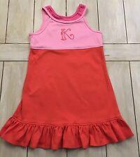 CHEZ AMI Pink Coral Knit Dress ~Monogram K ~Size 7~