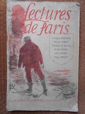 LE BATEAU D'EMILE - G. SIMENON - LECTURES DE PARIS 1945