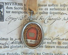 relic reliquary B.ANGELO (CARLETTI ) DI CHIVASSO+ DOCUMENTO 1771 RELIQUIA shrine