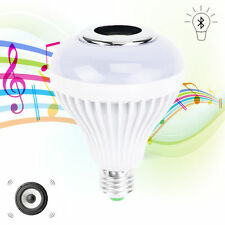 E27 Bluetooth Smart Music Audio Speaker LED RGB Color Changing Bulb Light Lamps