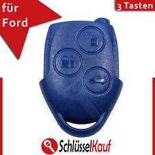 Ford Autoschlüssel 3 Tasten Gehäuse Blau Connect Transit Mondeo Ersatz Key Neu