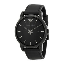 Emporio Armani Men's AR1732 'Classic' Black Leather Watch