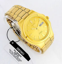SEIKO Men GOLD Tone Automatic Watch Seiko 5 SNKK52 Gold tone dial NEW w/ Box
