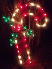 CHRISTMAS OUTDOOR LIGHTED CANDY CANE HOLLY BERRY SIGN WINDOW LIGHT SIGN DECOR 18