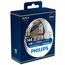 Philips Racing Vision RacingVision +150% H4 Headlight Bulbs (Twin) 12342RVS2