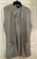 AUTHENTIC Ralph Lauren BLACK LABEL Metallic Silver Knit Vest, size large