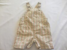 "Gymboree ""On Safari"" Green Tan White Orange Plaid Shortall, 3-6 mos."