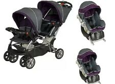 Baby Strollers and Car Seat Combo for Two Twins Double Baby Trend Sit And Stand