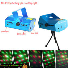 Laser Projector Stage Lights Mini LED R&G Lighting Party DJ Disco KTV Christmas