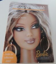 BARBIE CATALOGUE REVES ET BEAUTE TOUTE LA COLLECTION 2002