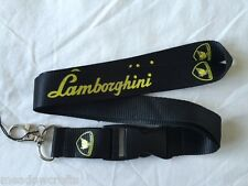 Lamborghini Lanyard NEW Black -  Keyring ID Holder Phone Strap