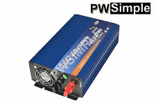 600W Pure Sine Wave Power Inverter 1200W Peak 12VDC to 110VAC w/USB