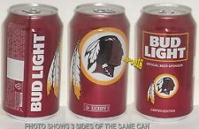 2016 WASHINGTON REDSKINS NFL KICKOFF BUD LIGHT BEER CAN FOOTBALL DC HOGS SPORTS