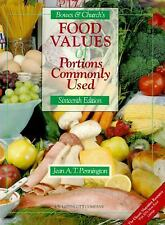 Bowes & Church's Food Values of Portions Commonly Used Bowes, Anna De Planter,