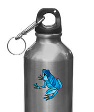 """CLR:WB Dart Frog Stained Glass Vinyl Decal for Water Bottle ©YYDC (2""""w x 2""""h)"""