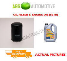 HYBRID OIL FILTER + LL 5W30 ENGINE OIL FOR PEUGEOT 508 RXH 2.0 163 BHP 2011-