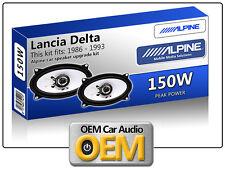 Lancia Delta Frontal Dash oradores coche Alpine Altavoz Kit De 150 W De Potencia Max 4x6