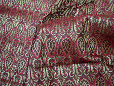 Brocade Fabric Maroon Gold brocade Jacquard fabric Art silk fabric